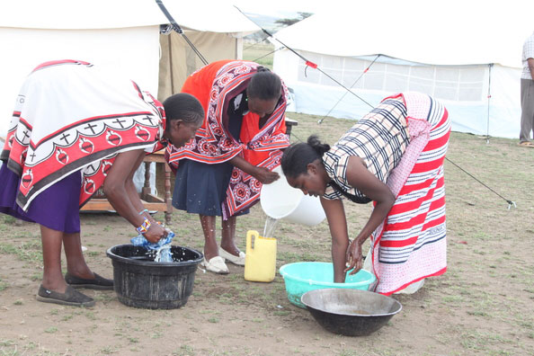 refugees using core relief items by NRS Relief in Kenya 2015