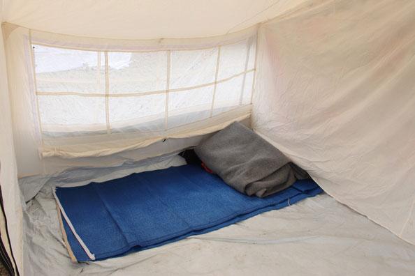 sleeping area by NRS Relief in Kenya 2015